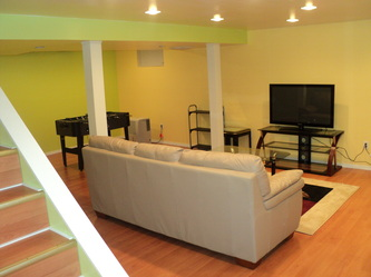 Watervliet - basement finishing. 1200 square feet of finished space built. & Photo Gallery - AHS Construction